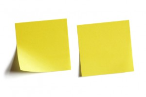 User Stories are often represented by sticky notes