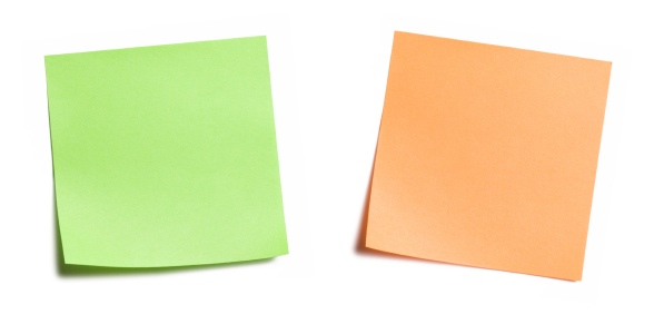 User Stories, Themes, and Epics are often represented by sticky notes
